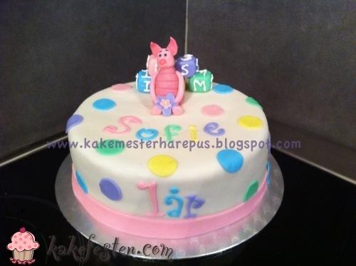 Galleri - Kategori: Bursdag jente - Bilde: Sofie 1 år nasse nøff kake