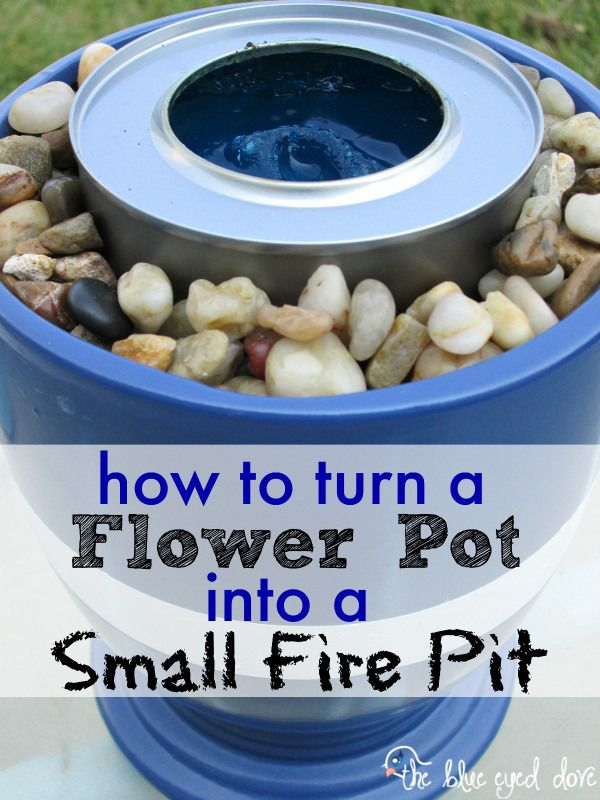 Easy instructions on how to make your own small fire pit! theblueeyeddove.com