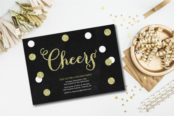 Cocktail Party Invitation, New Year's Eve invitation, Printable, Gold, Black and White, Cocktail Party Invite by Oohlalovely on Etsy https://www.etsy.com/au/listing/211276856/cocktail-party-invitation-new-years-eve