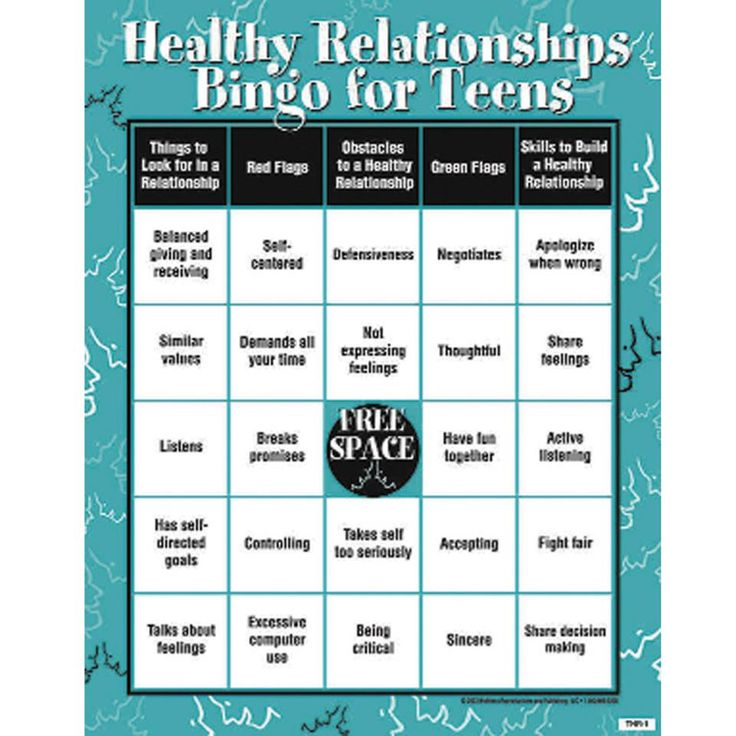 [Infographics] via @teensource   Labeled 'Healthy Relationship Bingo' great for teens (and everyone else)!
