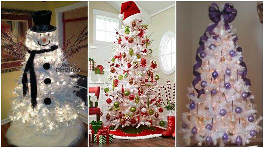 Aunque el color más común para árboles de navidad es el verde (porque es del color que es naturalmente) hay otras opciones de color, como el blanco. La preferencia de color va de acuerdo con los gustos y lo que va a corde de los espacios, pero si optaste por este estilo, vamos a ver algunas ideas para decorarlo y que se vea muy lindo. La ventaja del blanco es que cualquier color diferente que uses en la decoración resaltará muy bien entre tanta blancura. Puedes optar por elegir un solo color…
