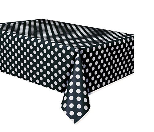 "Plastic Black Polka Table Cover, 54"" x 108"" Unique Indust... http://www.amazon.com/dp/B00BLNX4GC/ref=cm_sw_r_pi_dp_RIKhxb15ZWDSP"