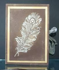 Image result for feather stencil cards