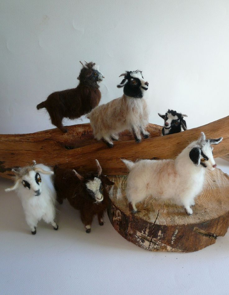 Needlefelted goats https://www.etsy.com/shop/ElinasArtShop?ref=hdr_shop_menu