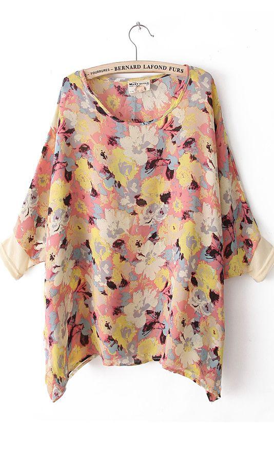 Cute Cheap T-shirts printed flowers 3636 Beige - T-Shirt Online Shopping Free Shipping