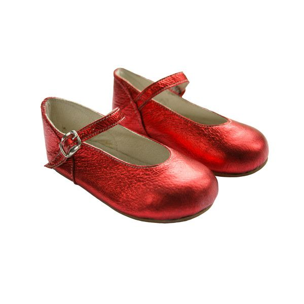 Classic Mary Janes in a metallic red. Perfect for parties, playdates or just to add a splash of colour into everyday! Handmade in England