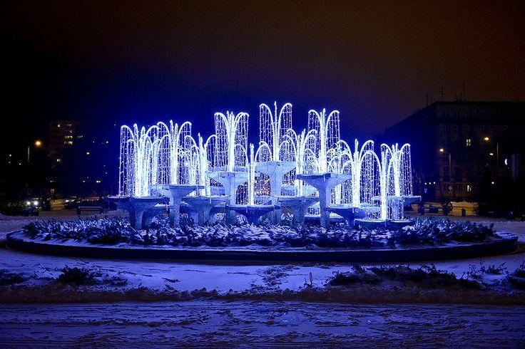 Gdyńska iluminacja świąteczna na Skwerze Kościuszki / Christmas lights in Gdynia, Kościuszki Square | fot. Maciej Czarniak