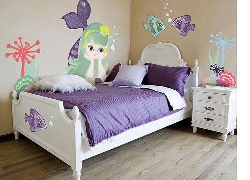 25 best ideas about mermaid girls rooms on pinterest for Ariel bedroom ideas