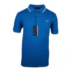 Fred Perry heritage twin tipped polo shirt in aster blue | Available at Designer Man, offering huge savings and worldwide delivery on many top designer men's clothing brands. #fredperry #heritage #m1200 #polo #style #fashion #summer #menswear #designerman #mensfashion #apparel #clothing #sale