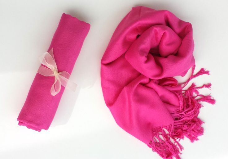 HOT PINK Pashmina Scarf.  Pashmina Wrap. Pashmina Shawl. Bridesmaid shawl. Bridesmaid gift. Wedding Gifts by WeddingWraps on Etsy https://www.etsy.com/listing/199541531/hot-pink-pashmina-scarf-pashmina-wrap