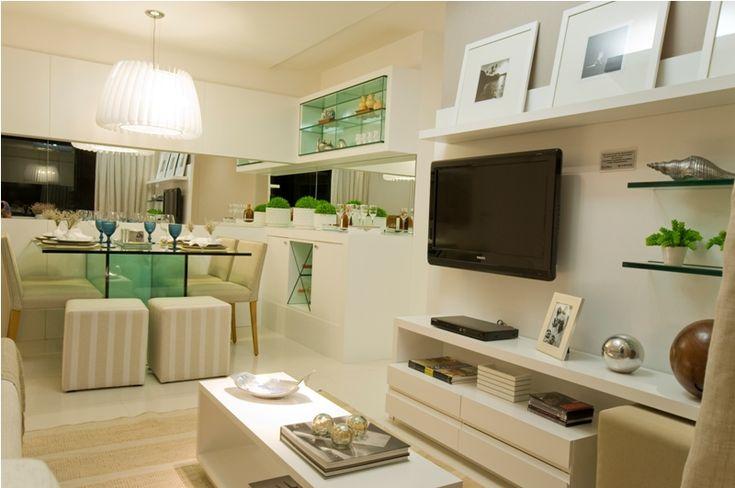 Sala decorada apartamento pequeno pesquisa google for Muebles para apartamentos pequenos
