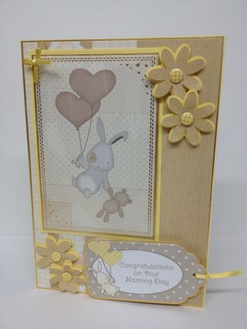 Card Creations: February 2013. Kanban Birth and Celebration paper craft collection - foiled & die cut toppers.