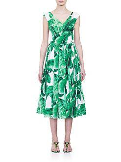 Dolce & Gabbana - Printed Button Back Dress