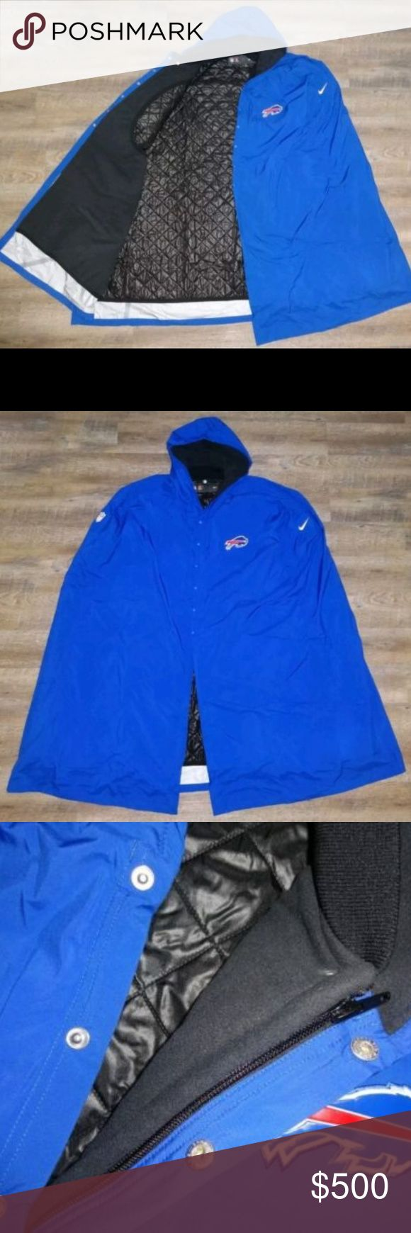 Nike NFL Buffalo Bills 2017 Team Issued Cape Parka Nike NFL Buffalo Bills 2017 Team Issued Cape Parka Quilted Sideline Jacket. NOT FOUND IN STORES!! Nike Jackets & Coats Trench Coats