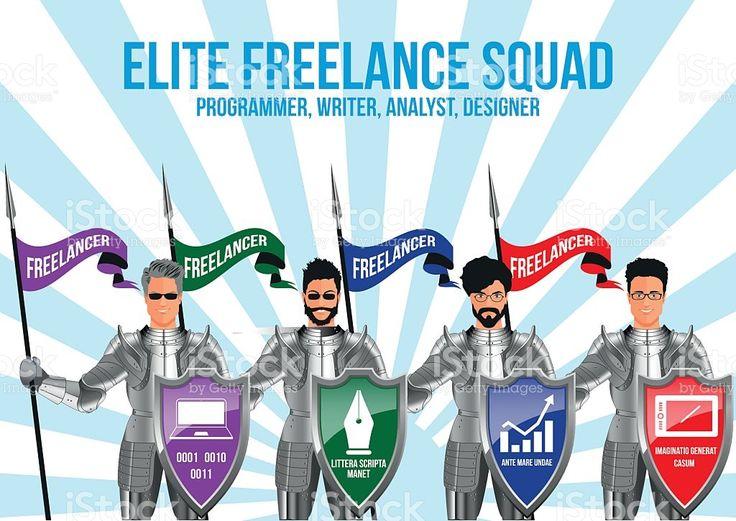 Modern freelance squad design concept royalty-free stock vector art