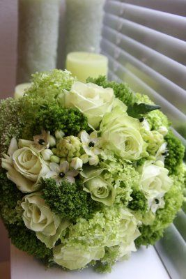 Green and White Flowers white green flowers bouquet wedding