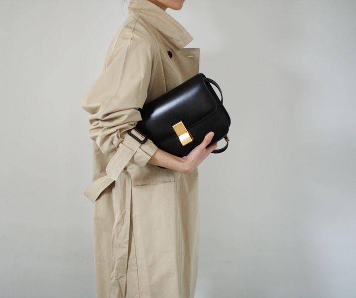 Trench coat & Celine bag