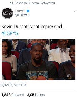 Kevin Durant Peyton Manning Memes, ESPYs - Top 10