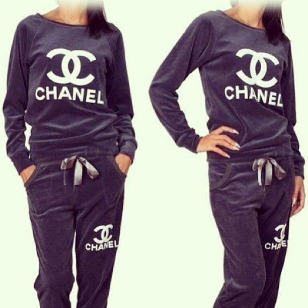 chanel tracksuit. oh just lounging around in chanel tracksuit