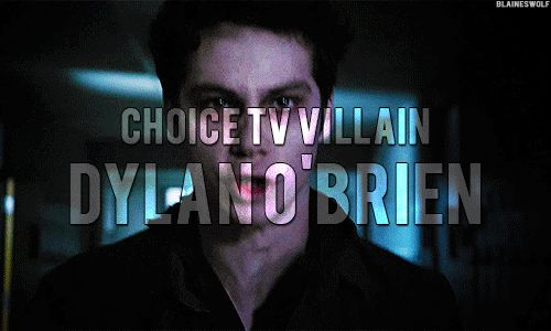 CONGRATS to Dylan for winning the Teen Choice award for Best TV Villian!!!! 2014 NO CONTEST!!! Tumblr