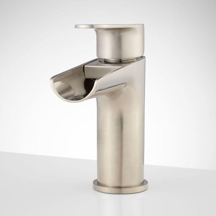 Pagosa Waterfall Single Hole Bathroom Faucet Faucets Waterfall Bathroom Fa