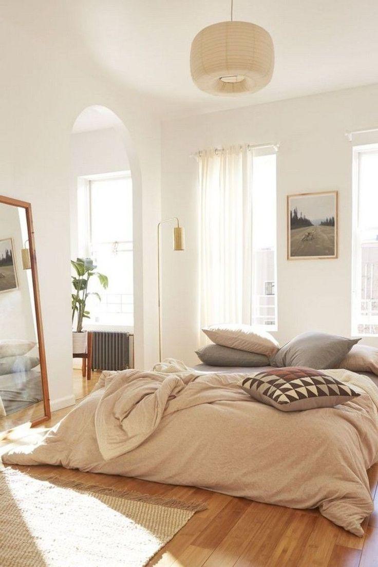41 Amazing Neutral Minimalist Bedroom Design Ideas in 2020 ... on Neutral Minimalist Bedroom Ideas  id=53133