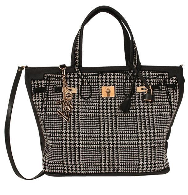 V73 Tweed Bag Black/White http://www.v73.us/textile-bags/tweed-02/121-tweed-bag-bianco-nero #v73 #tweed #black #white #bag #blackandwhite