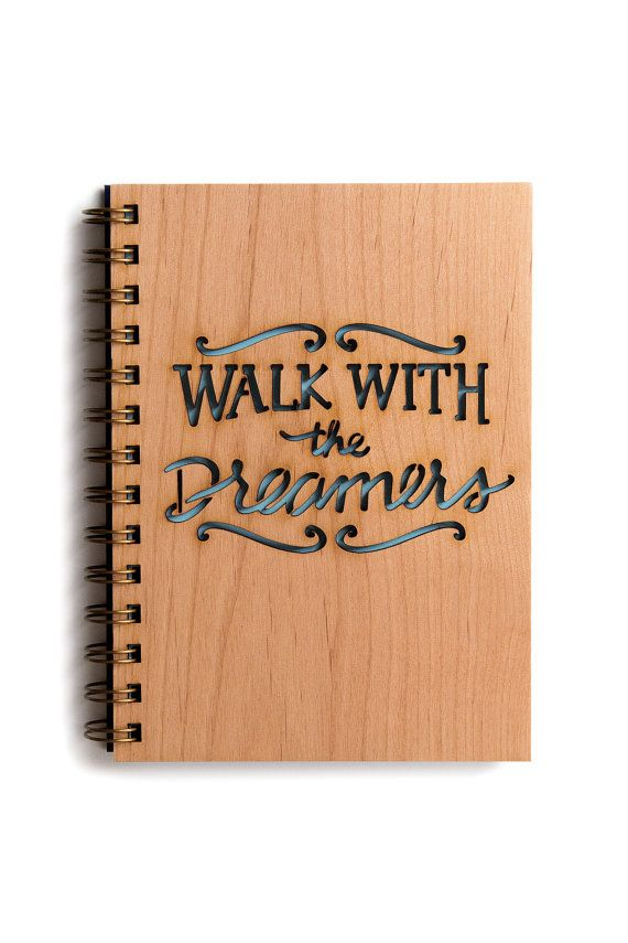 Walk with the Dreamers Wood Journal.  For the man with big ideas and dreams.  Neat journal for him to document all his ideas!  It's always interesting to look at journals from years back!
