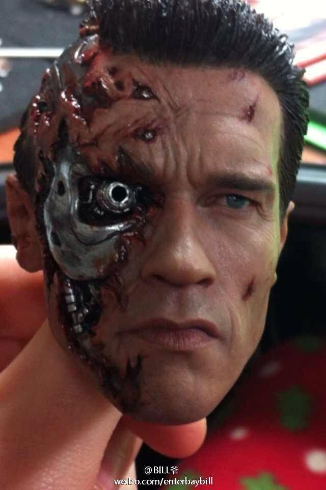 Terminator 2 judgement day 1/4 scale head sculpt,looks so real.