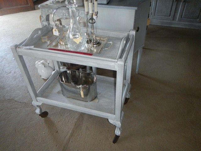vintage Techniqued tea trolley R1900