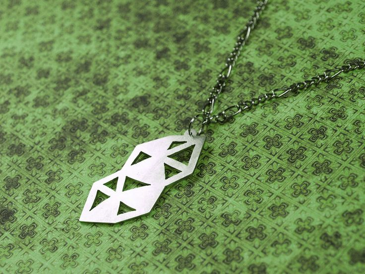 Triangular necklace | - metal cutting, material: nickel silver |  No fanart today, I wanted to make something more original...