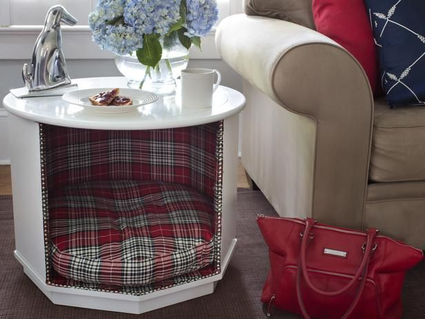 How to Make a Combination Pet Bed and End Table : Home Improvement : DIY Network #Homeimprovement