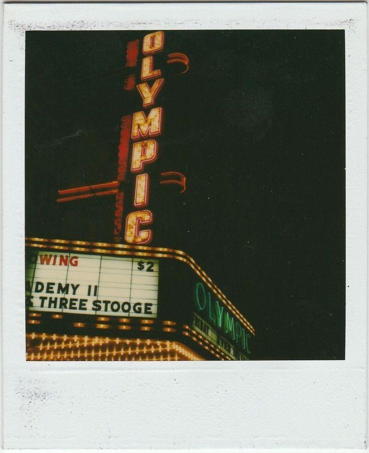 Vintage Polaroid SX-70 Photo, Olympic Theater, Cicero Il.