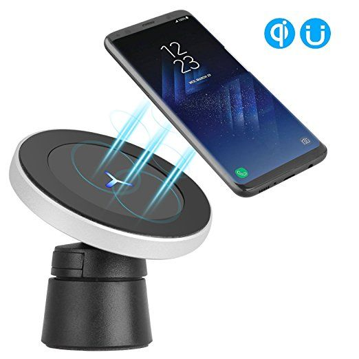 Just buy my new iPhone X, works very well on the wireless . Easy to put it into my case and not going to scartch my phone. The magnet works perfect, even I'm doing a sharper turn the phone is not going to fail off.