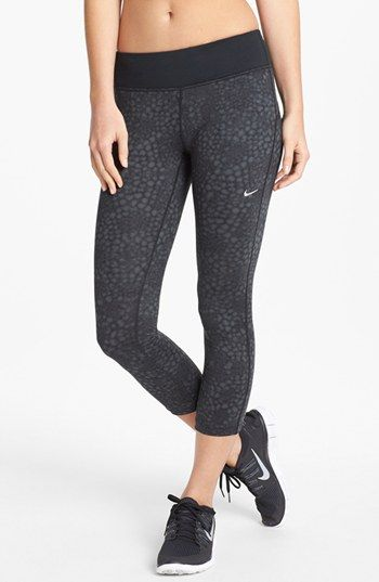 Nike 'Epic Run' Print Crop Leggings available at #Nordstrom