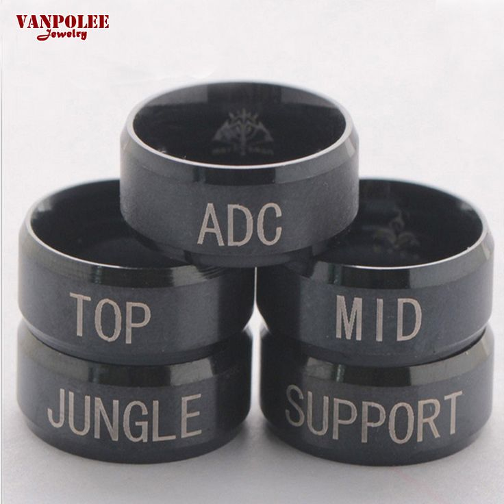 Hot Online Game LOL League of Legends Ring Men Stainless Steel Ring ADC TOP MID JUNGLE SUPPORT Ring Anel Masculino Bijuteria