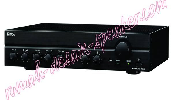 TOA Mixer Amplifier ZA-2030 (30 Watt)  3 Input Mic, 2 Input aux, 1 Rec Out Output com 4 ohm, 70 V, 100V  Bisa untuk 1 buah ZH-5025B atau ZH-5025BM   Spec: Power Source: 220-240V AC (H version) or 24-30V DC  Rated Output: 30W  Power Consumption: 78 W (AC operation at rated output). 34 W (at 1/8 Power). 2A (DC operation at rated output).  Frequency Response: 50 - 20.000 Hz (+3 dB)  Distortion: Under 1% at 1kHz, 1/3 rated power  Input: MIC 1-3: -60dB*, 600 ohms, balanced, phone jack. AUX 1-2…