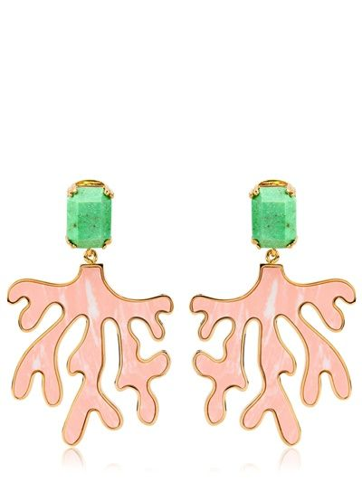 HOUSE OF LAVANDE - EVERGLADES CORAL EARRINGS - LUISAVIAROMA - LUXURY SHOPPING WORLDWIDE SHIPPING - FLORENCE