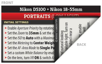 Nikon D5100 Cheat Sheets for Beginners
