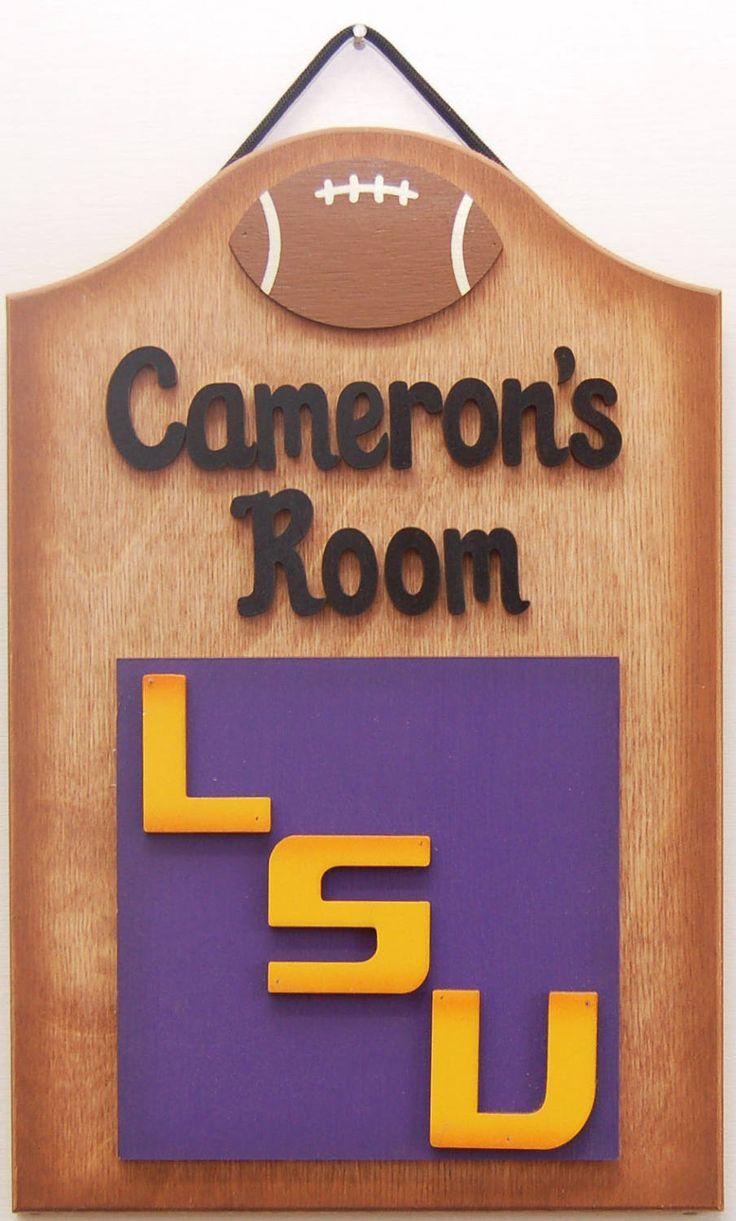 LSU Football Personalizzed Louisiana State University LSU Tigers Football Sports sign LSU Football Sports sign gifts for guys football signs by UCsportsbyBill on Etsy