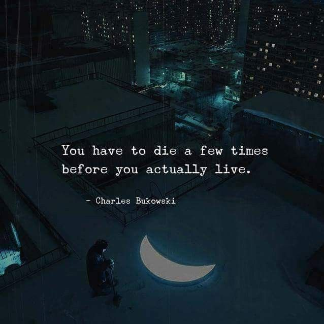 You have to die a few times before you actually live.