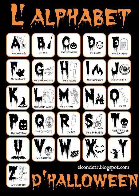 L'alphabet d'Halloween!