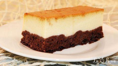 Chocoflan - prajitura cu crema de zahar ars si ciocolata