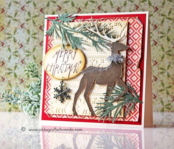 Tim Holtz 2014 Christmas supplies - card by Wanda Guess