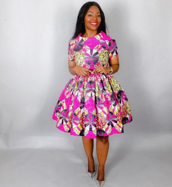 NIEUW IN: Afrikaanse print handgemaakte jurk door Nasbstitches