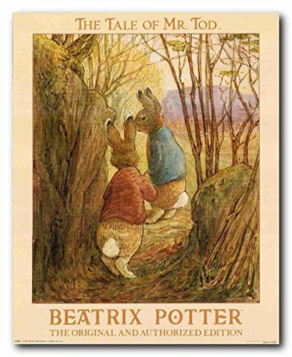 This stunning wall poster of Beatrix Potter's classic tale brings world of Peter Rabbit to life. This wall poster can make your child hoplite hop with delight. It will be a great addition for your bedroom, new baby room or just someone that needs a little light in their life! This poster delivers a sharp vivid image with a high degree of color accuracy which ensures long lasting beauty of the product. Order today and enjoy your surroundings.