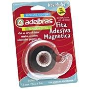 Fita adesiva magnética 19mmx3m c/dispenser Adelbras $15,7