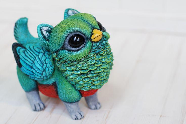200$ + shipping, Pygmy Griffins - Lisa Toms - Handmade art dolls