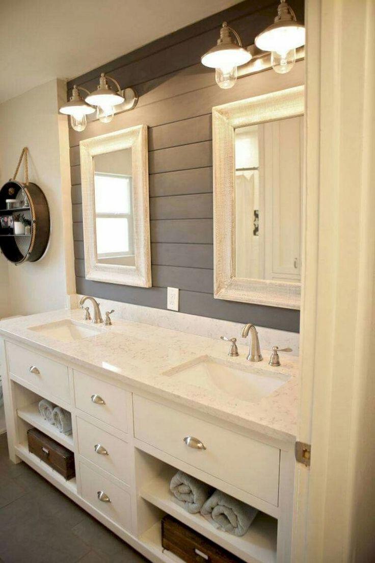 Beautiful farmhouse bathroom remodel decor ideas (10)