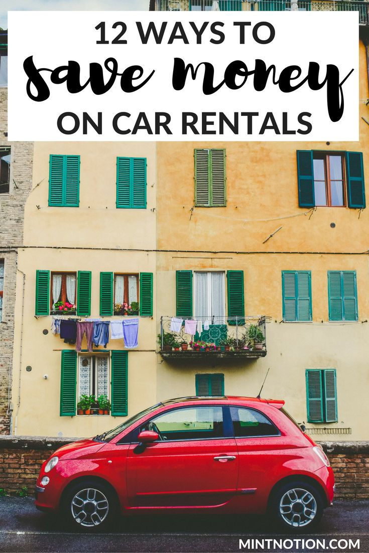 12 ways to save money on car rentals